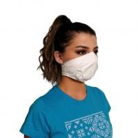 Ochranné rúško elastické antibakteriálne biele