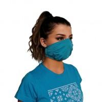 Ochranné rúško elastické antibakteriálne tyrkysové